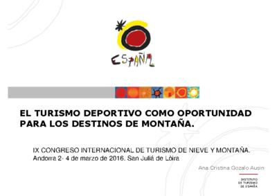 0_4 Ana Gozalo Turespaña IX Congreso de Turismo de Montaña